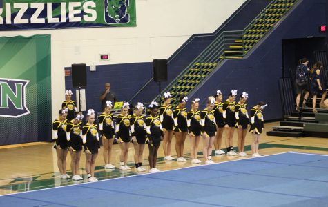 Competition cheer team takes the mat at Creekview