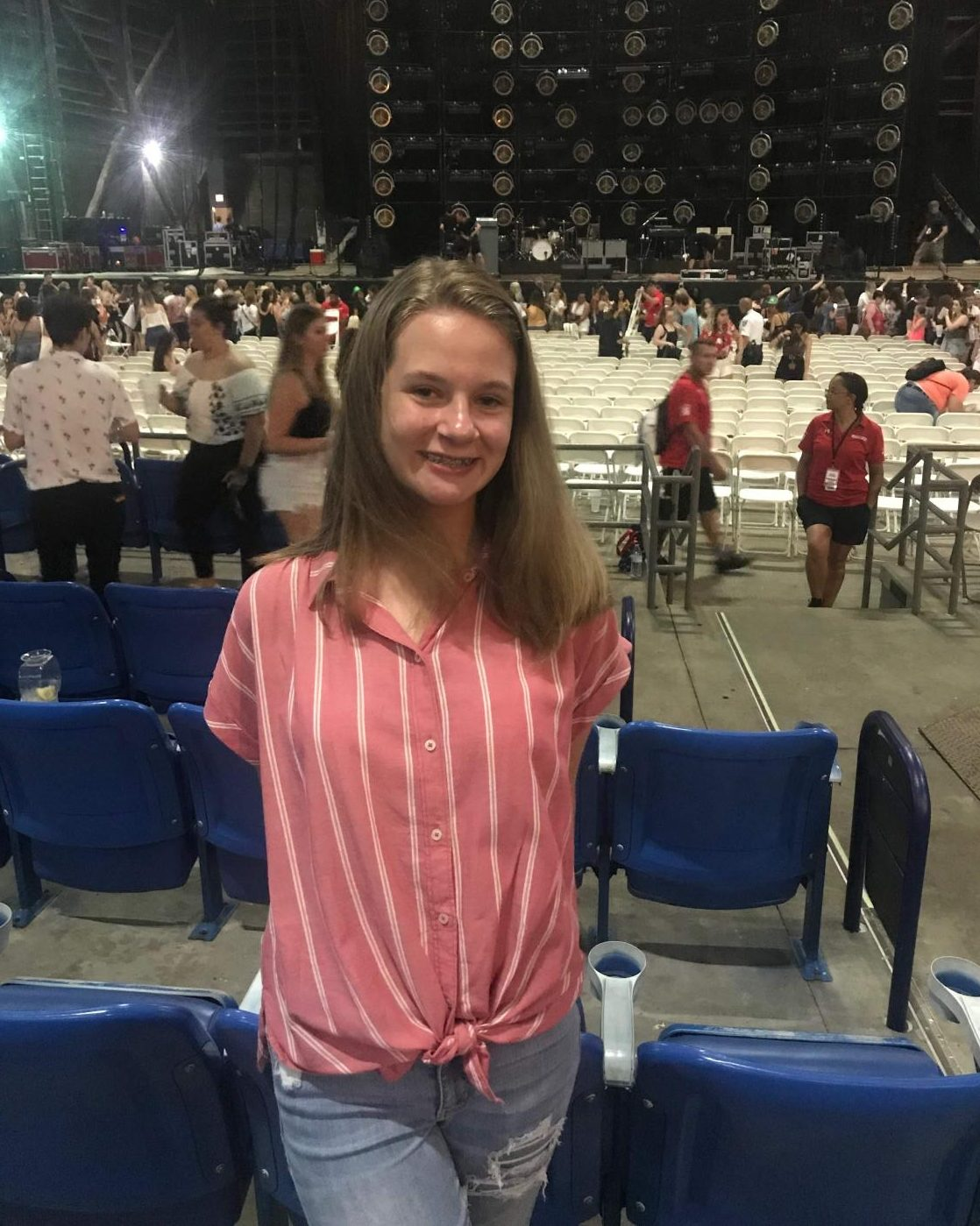 Sophomore Caroline Grier smiles for the camera at a Niall Horan concert. Grier made the most of this concert by being herself and having fun. Photo provided by Caroline Grier.