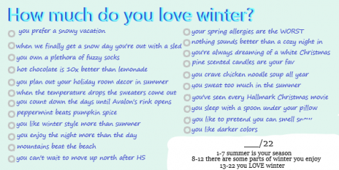 How much do you love winter? Interactive